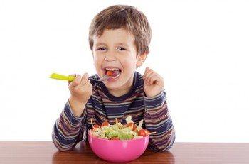 Los niños y la comida
